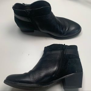 Naturalizer - Wanya leather and suede zip booties